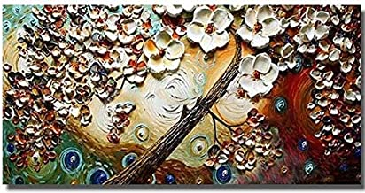 Hand Painted Modern Beautiful Flower canvas wall art oil painting Without Frame 110x70 cm Model HJK0031