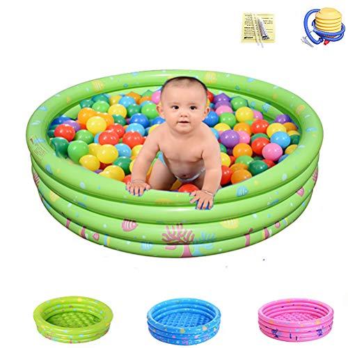 Verwisselbare Kleuterbad Anti-Slippery Opvouwbaar Water Pool Voor Kids Fun Backyard Toys Kids Zwembad Voor Age 2+,Green,four rings 150cm