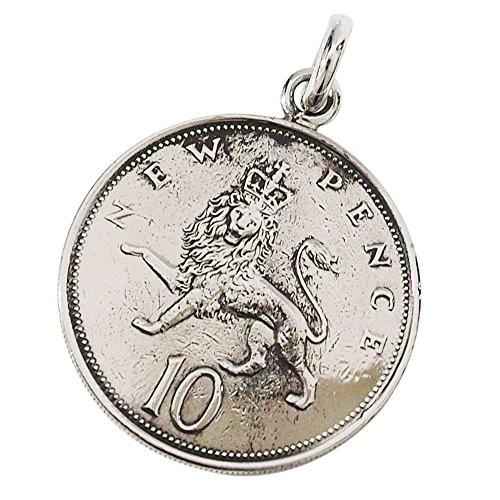 本物のイギリスのコインペンダント(4) コイン 硬貨 アクセサリー メンズ レディース 海外