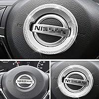 自動車内装トリムブリンブリンアクセサリーに適しています日産Nissan2018-2020ハンドルロゴリングカーチューニングアクセサリーラインストーンクリスタルデカールアクセサリー