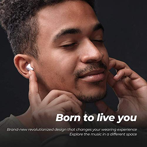 ENACFIRE E20 Wireless Earbuds with Extra Deep Bass, IPX8 Waterproof TWS Stereo Headphones, in Ear Built in Mic Bluetooth Earbuds, Touch Control Headset with Type-C Fast Charge