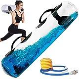 POIUYT Fitness Aqua Bag Attrezzatura per Esercizi 55 libbre Borsa dell'Acqua per Allenamento Resistente Palestra Domestica per l'allenamento Muscolare più stabilità ed Equilibrio