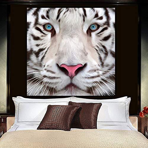 KWzEQ Leinwanddrucke Weißer Tiger Tier Wohnzimmer HD Print Leinwand Ölgemälde Home Decor40x40cmRahmenlose Malerei