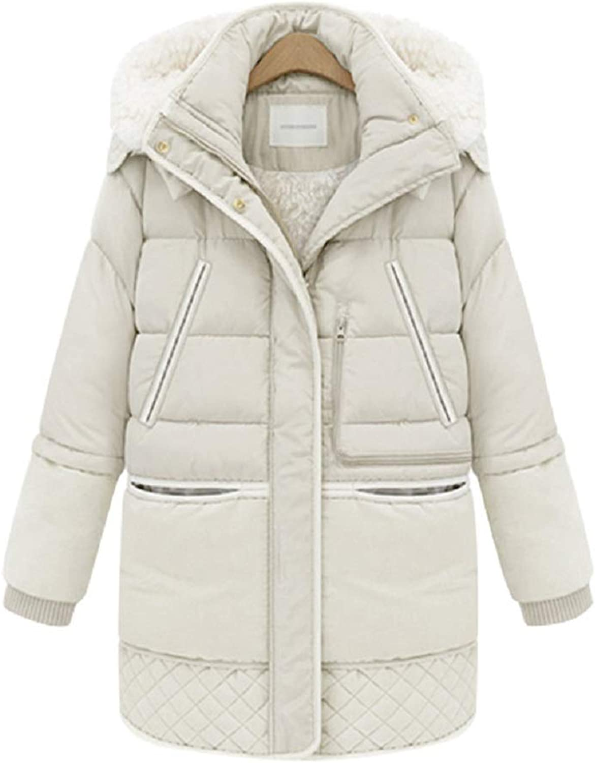 Aehoor Womens Long Down Jacket Hooded Jacket Thick Winter Soft Warm 90% Duck Down