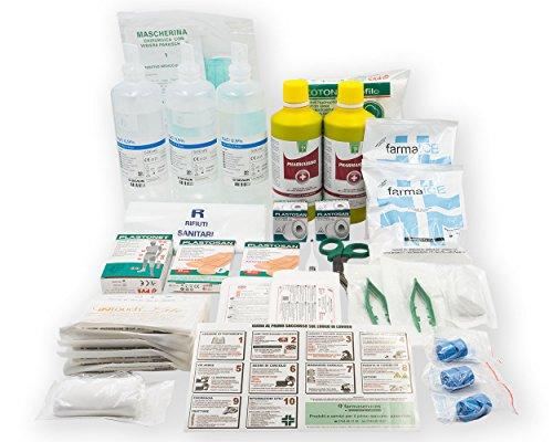 Pacchetto di medicazione kit reintegro ricambio per cassetta medica pronto soccorso SENZA MISURATORE DI PRESSIONE per aziende con 3 o più lavoratori D.M. 388 all.1