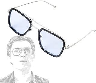 Iron Man Glasses Tony Stark Sunglasses Peter Parker Edith Glasses Accessories Cosplay Prop Sky Blue
