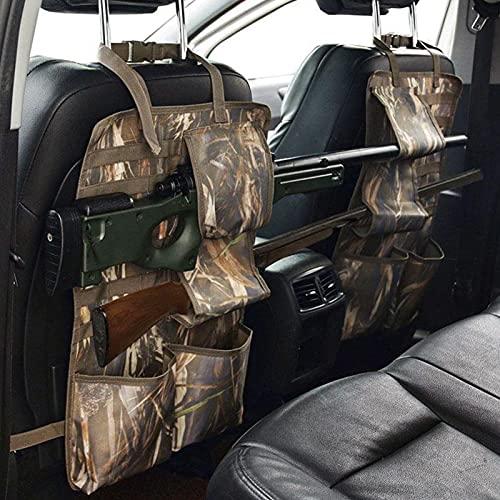 YTBLF 2 Piezas De Almacenamiento En El Asiento Delantero del Estante para Armas, Fundas para Pistolas De Caza, Organizador De Pistolas con Bolsillos, Asiento Oculto para El Coche, Soporte para Armas