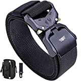 Fairwin Tactical Belt, 1.5 Military Hiking Rigger Nylon Webbing Mens Belt with Heavy-Duty Quick-Release Buckle and Molle Pouch Gear Clip