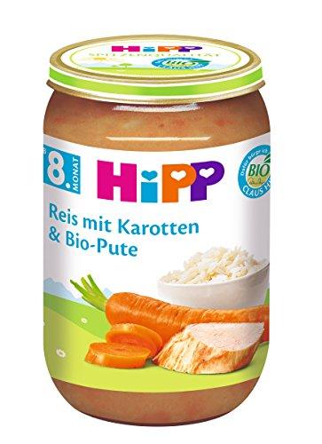 HiPP Reis mit Karotten und Bio-Pute Bio, 6er Pack (6 x 220 g)