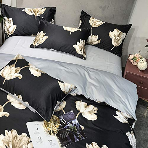 geek cook Complete Bedding Sets,Four-piece Washed Bed Sheet Silk Quilt Cover Three-piece Ice Silk Summer Set-wave_1.8m 4pc suit [quilt cover 1.8x2.2m]