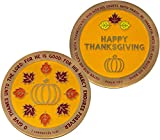 HIGH QUALITY THANKSGIVING CHALLENGE COIN: This special Thanksgiving coin is meant to help spread the attitude of gratefulness and praise toward our loving Savior. Pass them along to friends and family to remind them of what Jesus did for us, and reme...