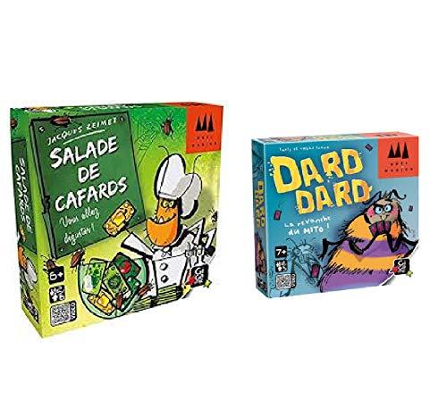 UDC - Juego de 2 juegos de mesa GIGAMIC - Ensalada de cucarachas + Dard Dard