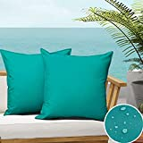 SOFJAGETQ Pack of 2 Outdoor Waterproof Throw Pillow...