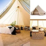 4 Season Bell Tent Outdoor Family Camping Waterproof Bell Tent with Zipped for Family Camping Outdoor Hunting 11