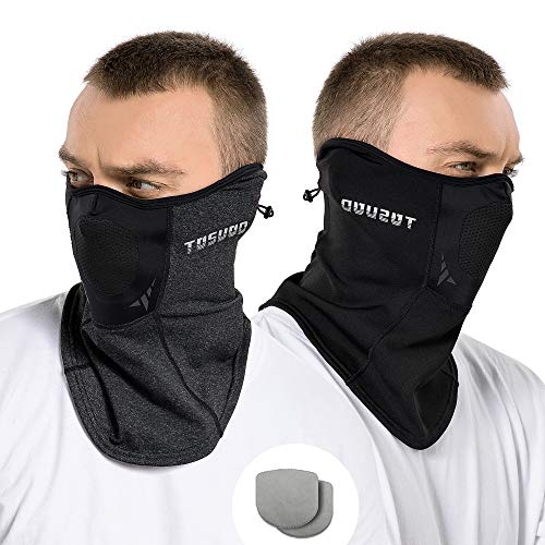 Winter Adjustable Neck Gaiter,Bandanas Face Mask with Elastic Velvet,Men's Balaclavas for Running, Cycling and Hiking