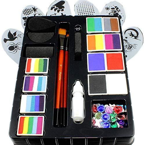 Face Paint Kit for Kids by Kryvaline Professionals with...