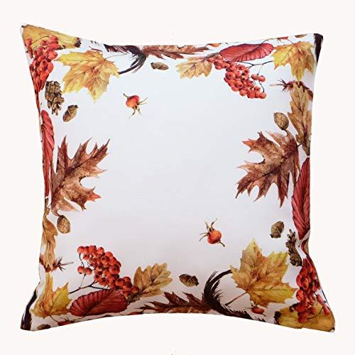 Kamaca Serie Herbst IMPRESSIONEN hochwertiges Druck-Motiv mit Herbstlaub EIN Schmuckstück in Herbst Winter (40x40 cm Kissenhülle)