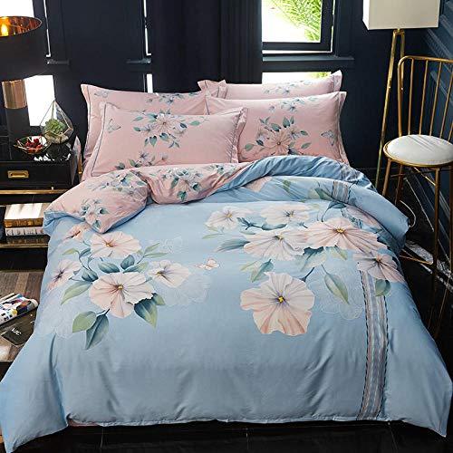 yaonuli Vierdelige set beddengoed Flower Denkt 2,0 bed vierdelig pak (dekbedovertrek 220 * 240)
