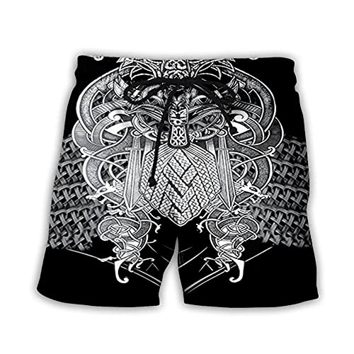 OUGEA Pantalones Casuales De Playa,Hombre Bañador 3D Estampado Verano Secado Rápido Playa Shorts Ocio Bañadores Bañadores-003_XL