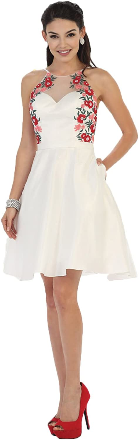 May Queen MQ1446 Cute Homecoming Dress W Pockets