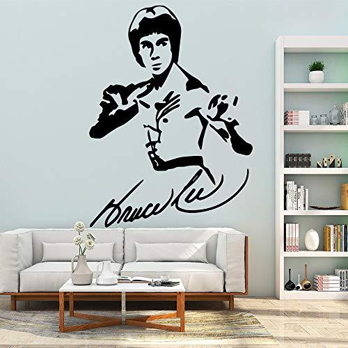 Yaonuli decoratieve stickers voor de muur in de woonkamer, acryl, beroemde decoratie van Bruce Lee