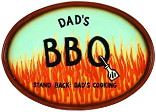 """RAM Gameroom Products Outdoor Decor Sign,""""Dad's BBQ - Stand Back: Dad's Cooking"""""""
