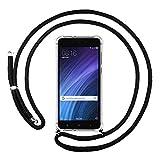 Funda Colgante Transparente para Xiaomi Redmi 4A con Cordon Negro