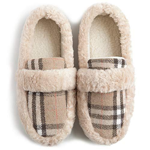 ZIZOR Women's Memory Foam Cozy Fuzzy Fleece Comfy Slippers