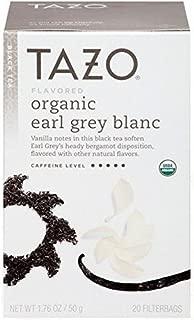 Tazo Organic Earl Grey Blanc Black Tea - 20 bags per pack - 6 packs per case.