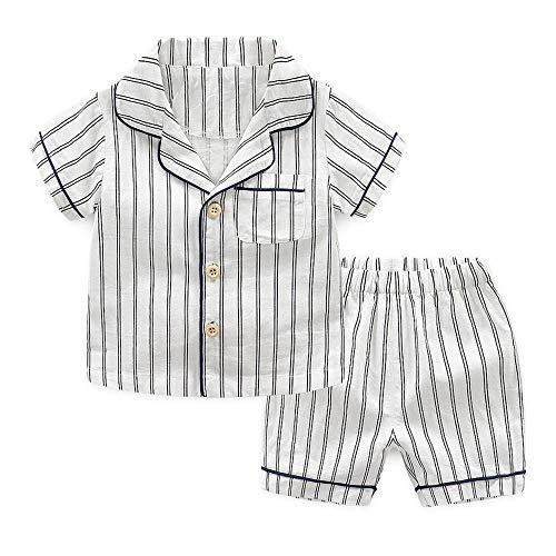 Kinderen pyjama Set Lente Jongen Korte Mouw pyjama Broek Kinderkleding Zomer Baby Katoen Thuis Service