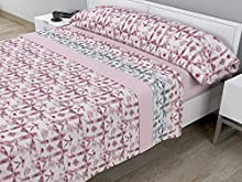 Juego de sábanas térmicas de Pirineo - 3 Piezas - 110 Gr/m2 - Mod. LICELIA (Rosa, Cama de 135 cm (135_x_190/200 cm))