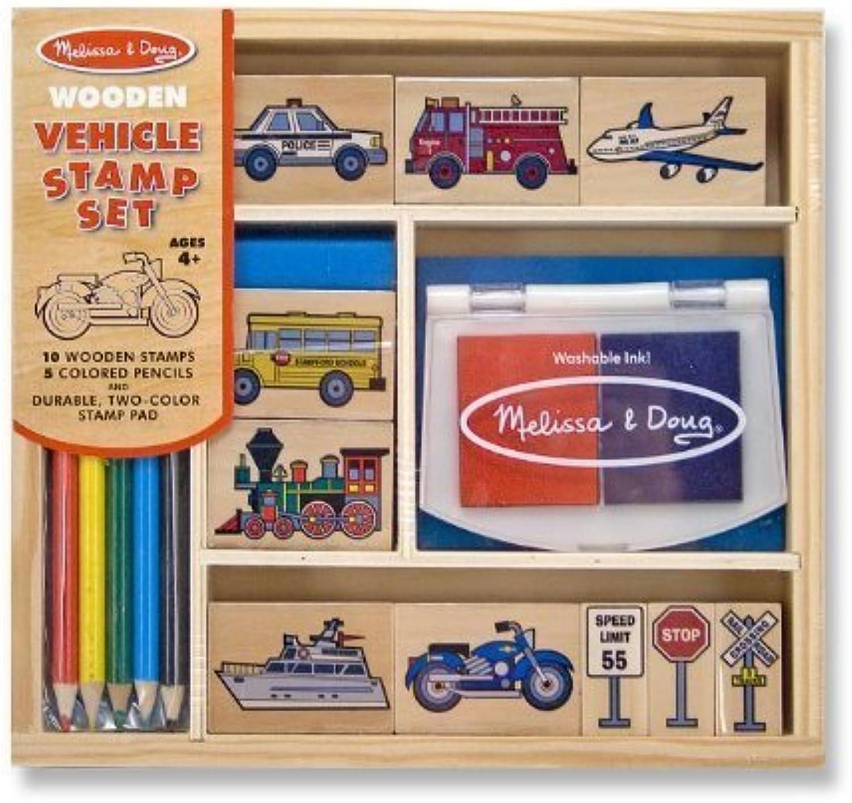 Vehicles  Wooden Stamp Set  FREE Melissa & Doug Scratch Art Mini-Pad Bundle [24099] by Melissa & Doug B00YBCKHW4  | Toy Story