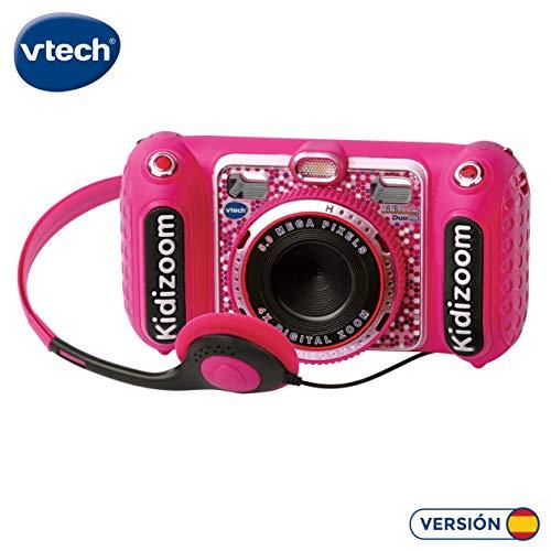 VTech- KIDIZOOM Duo DX 1 Rosa. Cámara de fotos digital con