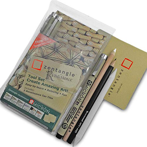 Sakura Zentangle Renaissance Set–Brieftasche–von Sakura Stifte, Bleistifte und Fliesen