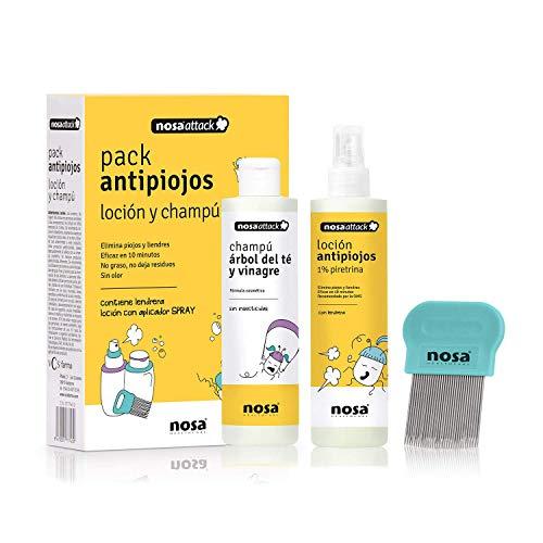 Nosa Healthcare 177743.0 Loción y Champú Antipiojos, 1 Paquete (150 ml + 150 ml)