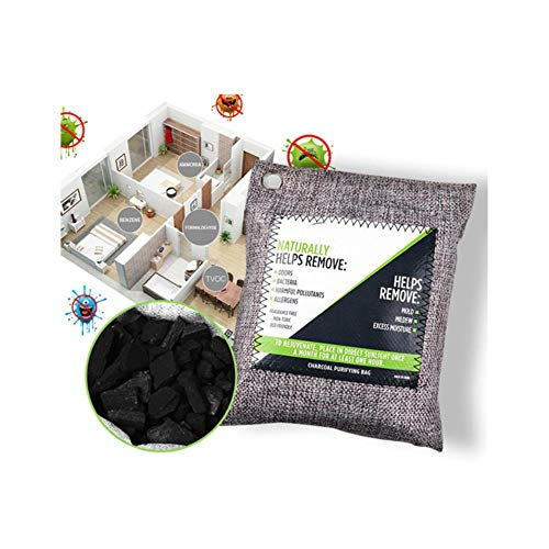 Best Prices! Umiliss 3/5pcs Air Purifying Bag Natural Bamboo Activated Charcoal Absorber Remover Car...