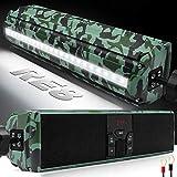 GoHawk RE8 Gen.3 Waterproof Bluetooth Motorcycle Stereo Speakers Soundbar 7/8-1.25 in. Handlebar Mount MP3 Music Player Audio Amplifier System ATV 4-Wheelers, USB, AUX, FM Radio