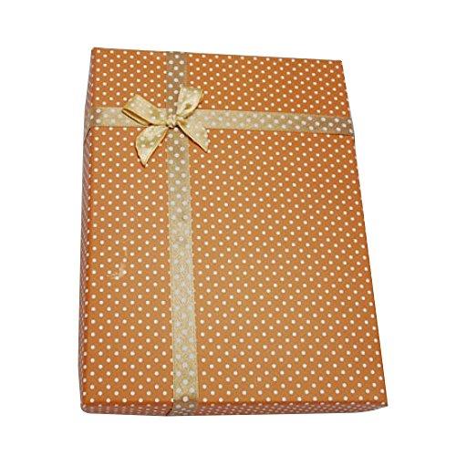 Pandahall–Cajas redondas de cartón para anillo – Ideal para San Valentín – 55x 32~35mm – Juego de 6 unidades – Color plateado, 16x12x3cm, Peru