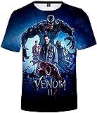 OLIPHEE T-Shirt di Venom e Carnage 3D Maglietta a Manica Corta di Derivati del Film per Ragazzi e Uomo M all Star