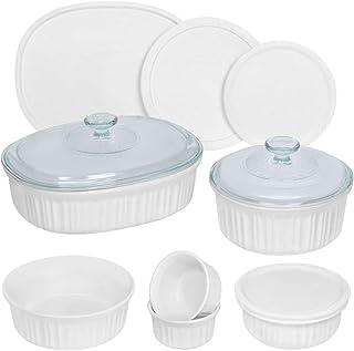 CorningWare French White Round and Oval Bakeware Set (12-Piece)