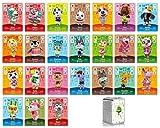Juego de 24 tarjetas NFC de 49 a 72 para Amiibo Animal Crossing New Horizon compatible con Nintendo Switch Lite Wii U New 3DS Rare de aldeanos Serie 1 a 4 con funda de almacenamiento.