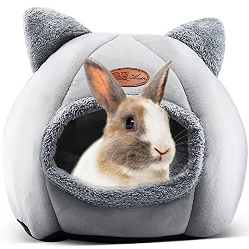 Cama Conejo - Cama para Conejos de 33cmx 33cm x 30cm - Accesorios Apto para Perro pequeño y Gatos - Casa Estilo Cueva