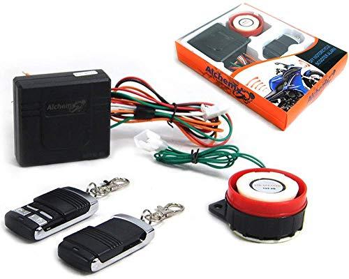Sistema compacto de alarma para motocicleta 12V 12 Voltios con control remoto - Universal para motocicleta Scooter Quad - No intrusivo - Cortacables N °