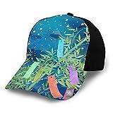 七夕の祈り 日よけ帽 野球帽 ゴルフ帽 ユニセックス 調整可能なフルプリント野球帽 かっこいい 四季 快適な スポーツ アウトドア 毎日