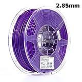eSUN 3mm Purple PLA PRO (PLA+) 3D Printer Filament 1KG Spool (2.2lbs), Actual Diameter 2.85mm +/- 0.05mm, Purple, (Pantone 268C)