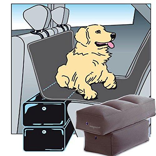 TierXXL GAPFIl Cuscino gonfiabile di ampliamento del sedile posteriore, 60 x 25 x 35 cm con pompa a mano inclusa