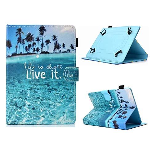 Unversale Hülle 7-8 Zoll, TASVICOO Unversale Tablet Schutzhülle Buchstyle Cover Standfunktion für alle 7/7,85/7,9/8 Zoll Tablet(Strand)