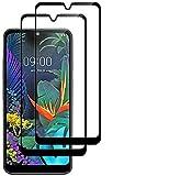 Kit de 2 Piezas Compatible para LG K50 / LG Q60 / LG X6 (2019) (6.26) película de Vidrio Templado antigolpes antiarañazos Pantalla 9H Touch Screen Negro