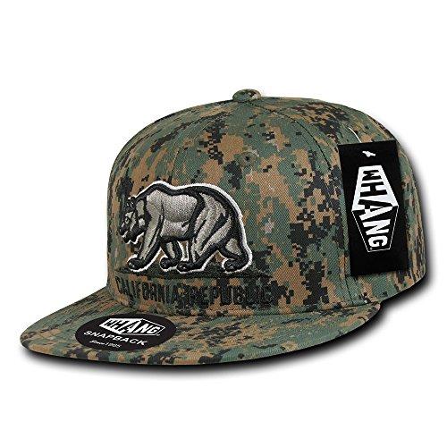 WHANG Cali-Kopfbedeckung mit Schnappverschluss, Erwachsene/Herren, Camouflage, Nicht zutreffend