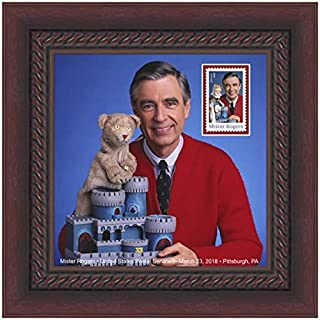 Mister Mr. Rogers FRAMED Collectible USPS Postage Stamp, 8 x 8-inch